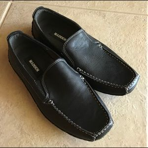 MADDEN Leather Slip On Shoes Black, Sz 9